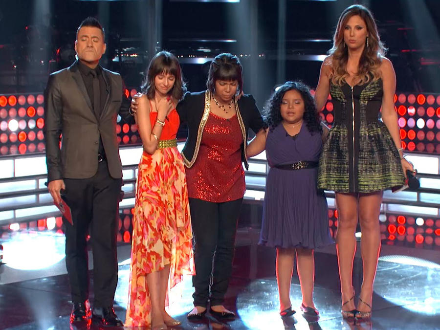 Team Tapia en los shows en vivo de La Voz Kids