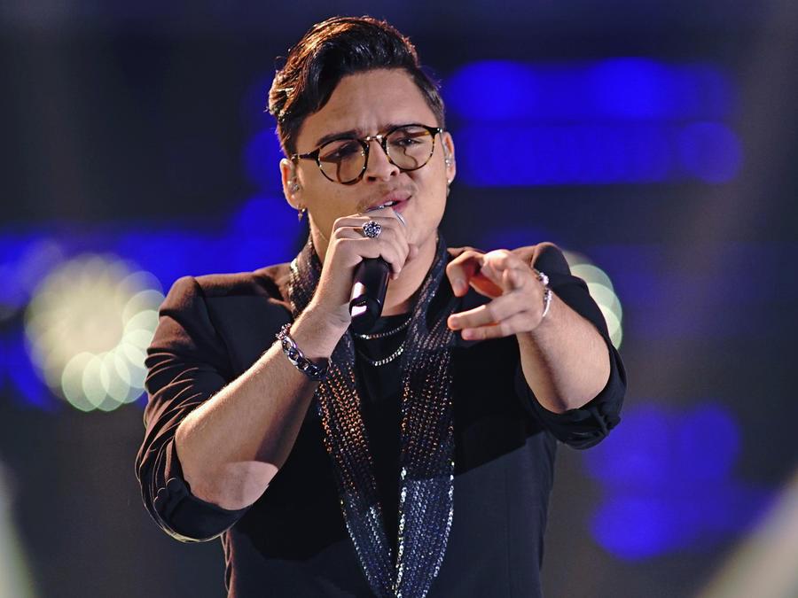 Brian Cruz en la semifinal de La Voz US 2
