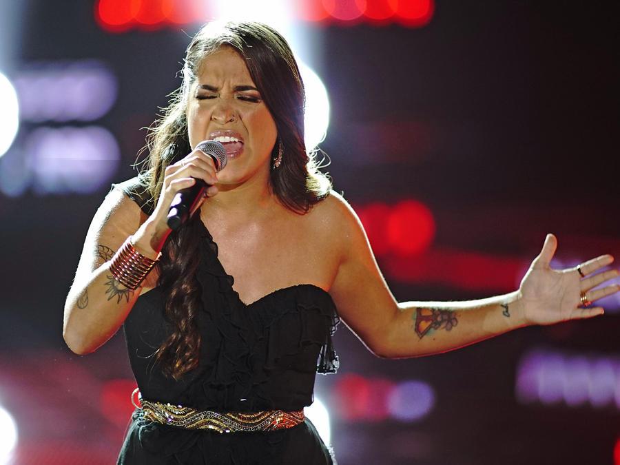 Emily Piriz en la semifinal de La Voz US 2