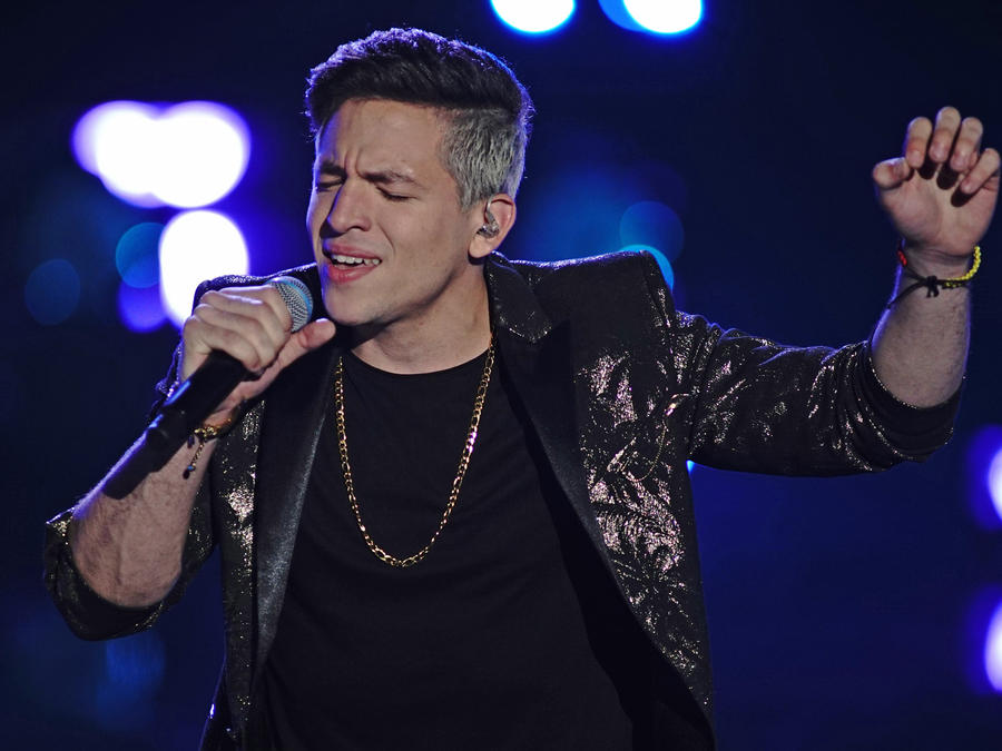 Jorge Franco en la semifinal de La Voz US 2
