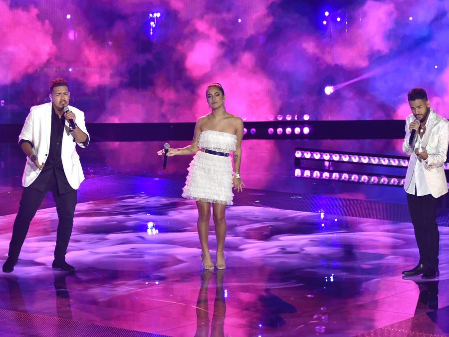 Kayson, Emily e Isai en la final de La Voz US 2