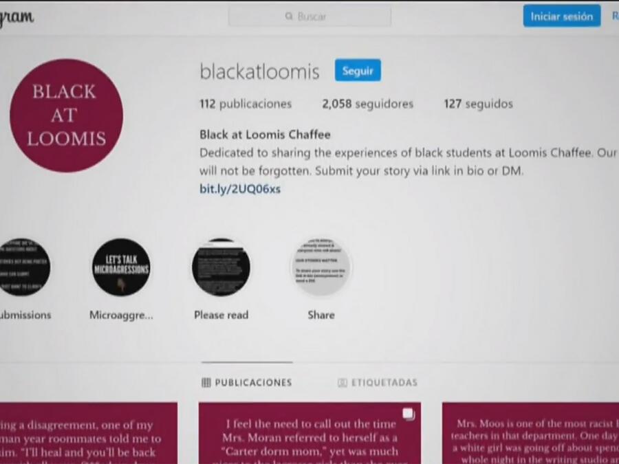 Estudiantes afroamericanos en Estados Unidos crean las cuentas 'Black at' en la red social Instagram para hablar sobre el racismo.