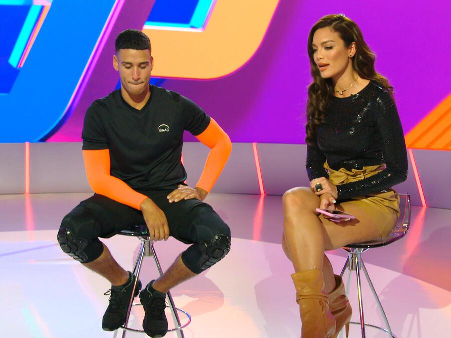 Zuleyka Rivera entrevista a Isaac tras su eliminación de El Domo del Dinero