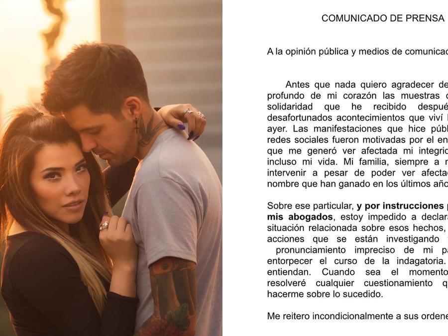 Cesar D'Alessio y novia
