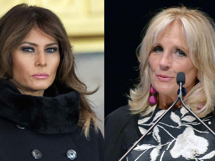 Melania Trum y Jill Biden