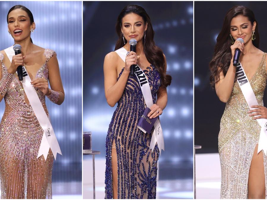 Miss Perú, Miss Brasil y Miss India responden las preguntas del jurado en Miss Universo edición 69