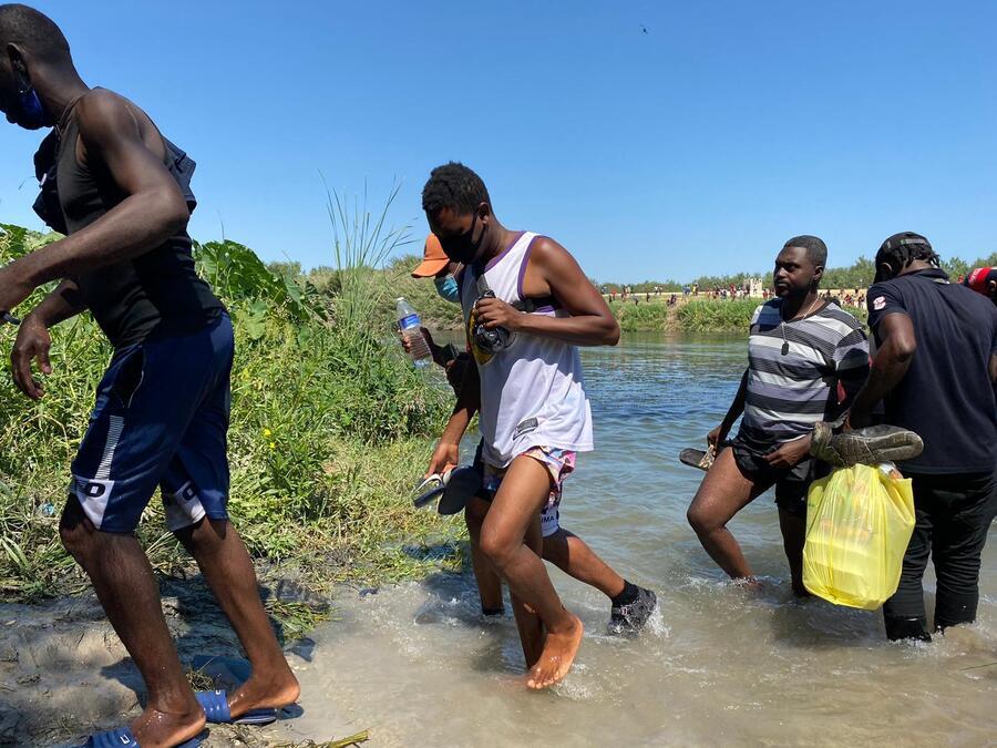 Inmigrantes haitianos.