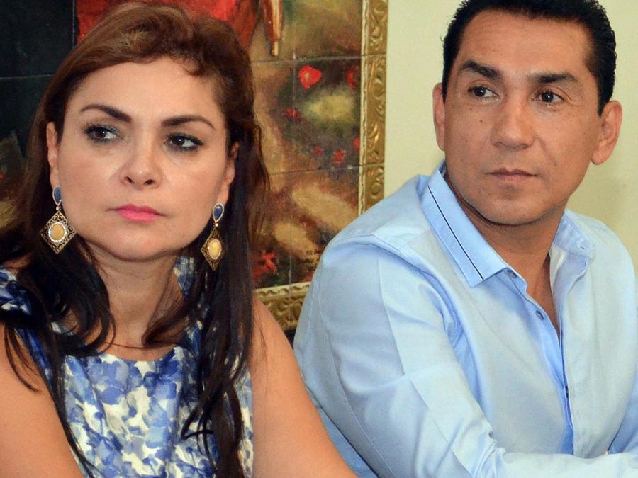 Ex alcalde de Iguala, México José Luis Abarca y su esposa María de Los Angeles Pineda