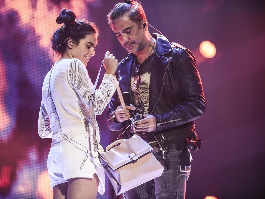 Alejandro Fernández y Camila Fernández ensayos Premios Billboard 2016