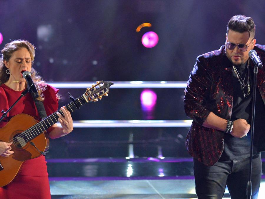 Marija Temo y Sammy Colon en las batallas de La Voz US 2