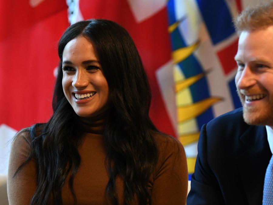 Meghan Markle y príncipe Harry durante su visita a Canadá