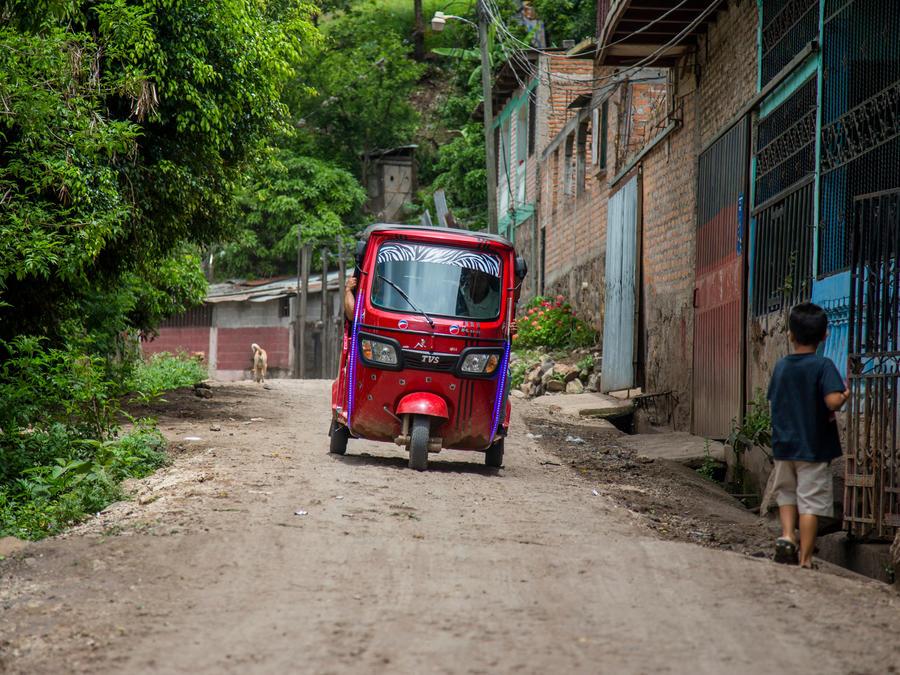 Comunidad bajo riesgo en Honduras