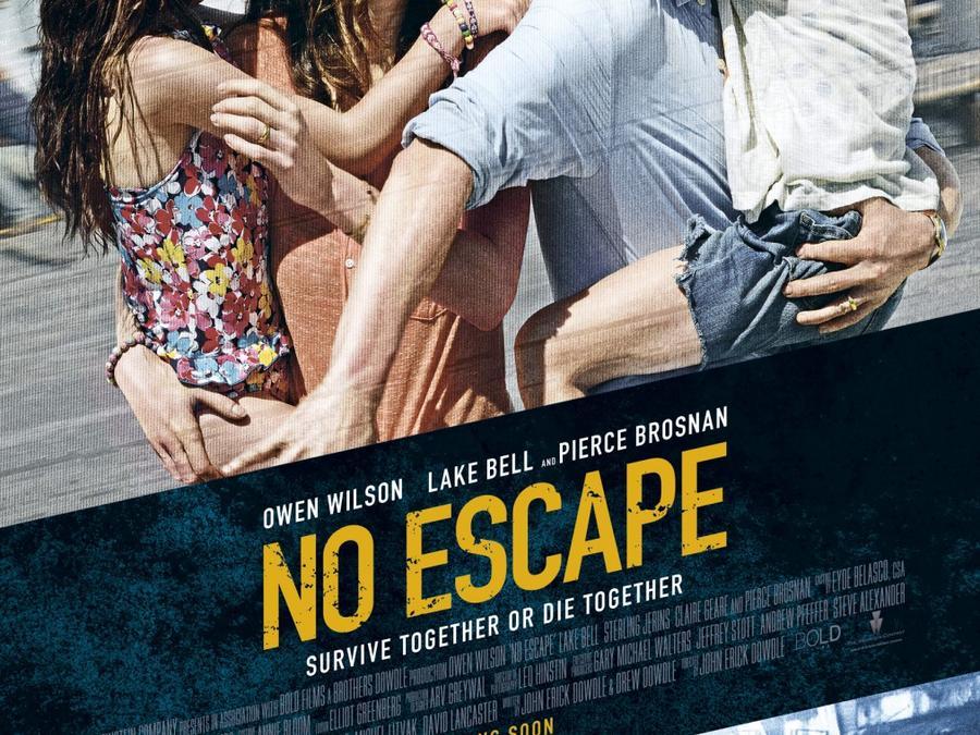 """Póster de la película """"No Escape""""."""
