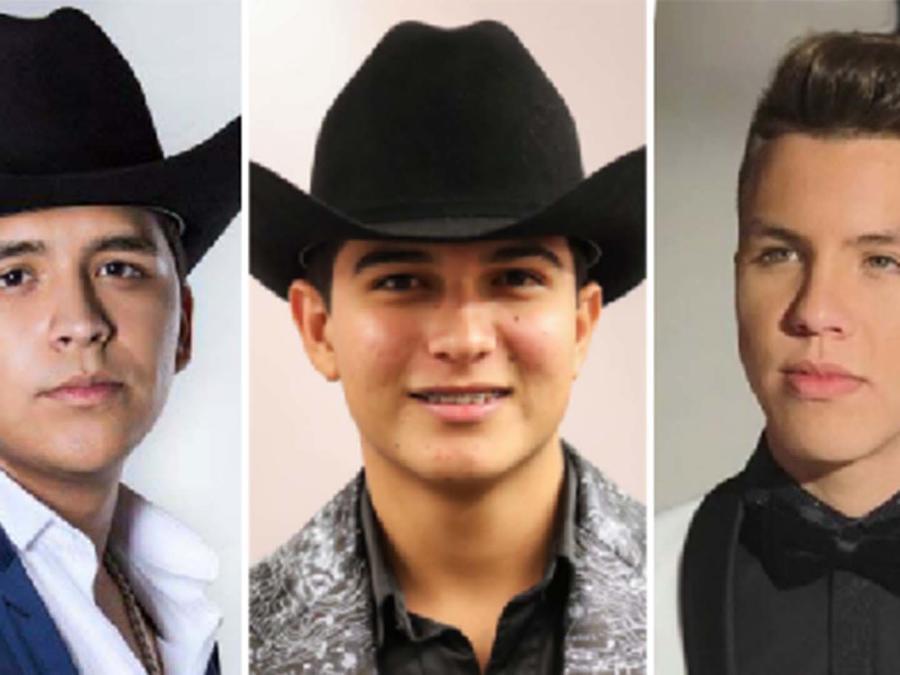 Christian Nodal, Ulices Chaidez y Jonatan Sánchez