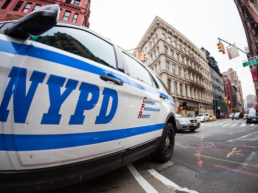 Vehículo de la policía de Nueva York.