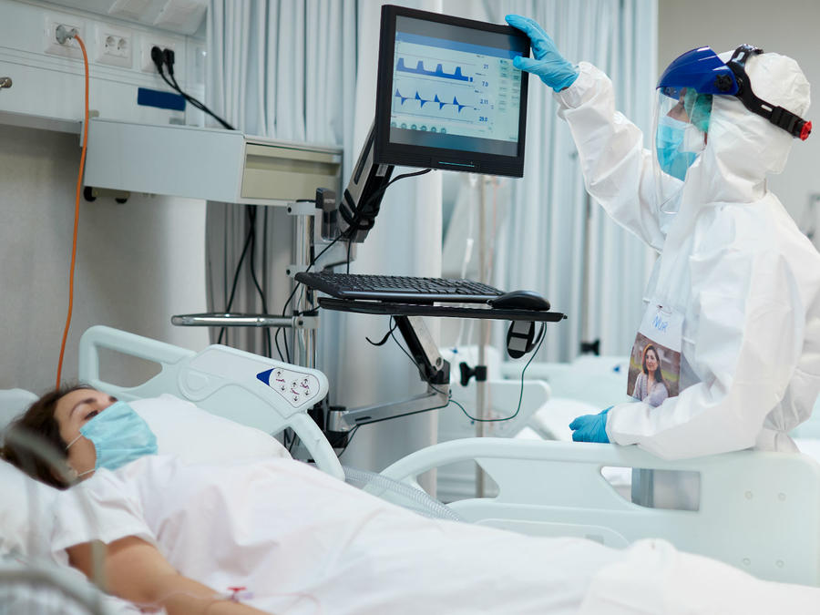 Paciente de COVID-19 hospitalizada