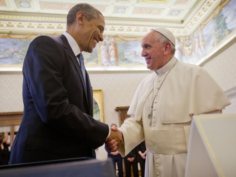 papa francisco con obama