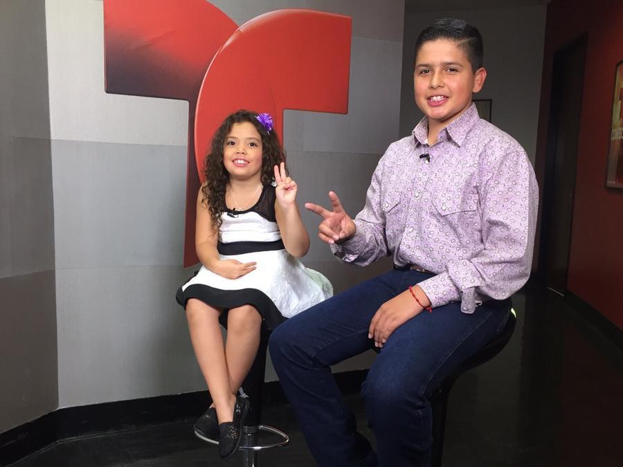 Hiram Silva y Lea del Castillo en los castings de La Voz Kids cuarta temporada