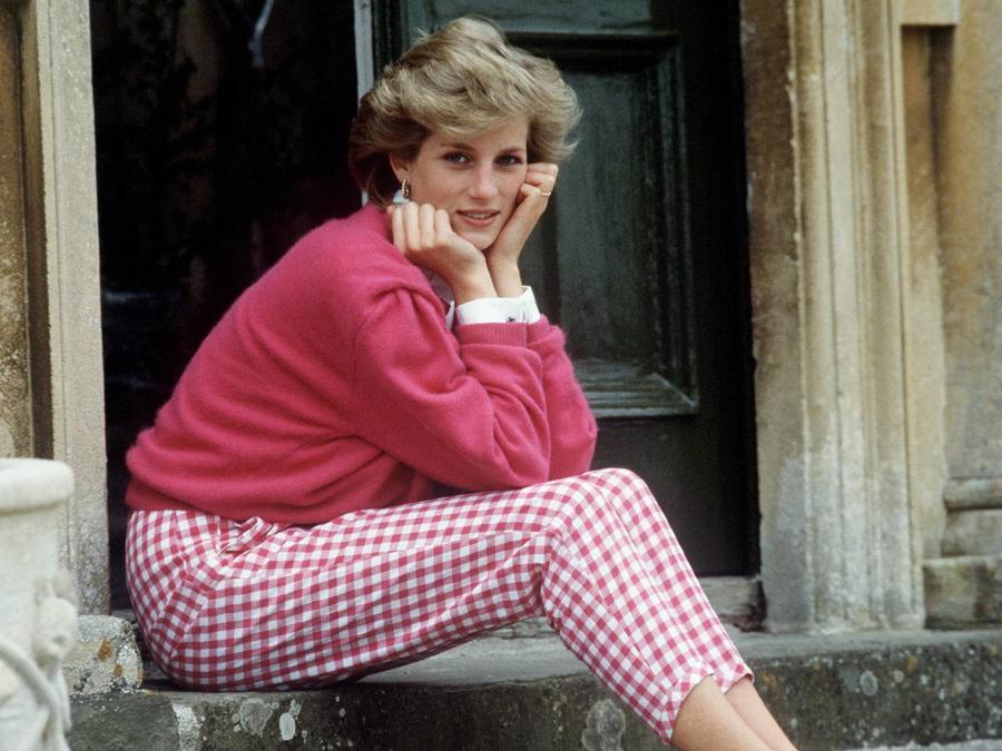 Princesa Diana en su casa en Doughton, Gloucestershire, el 18 de julio de 1986
