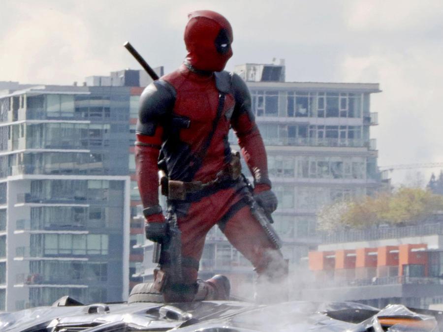 Ryan Reynolds en el set de la película 'Deadpool'