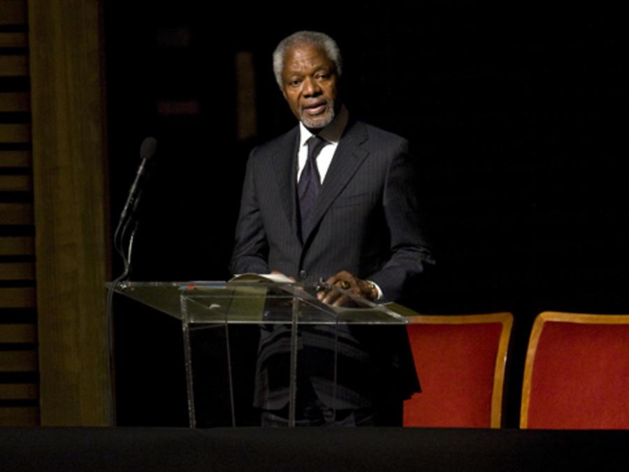 Ex secretario general de la ONU Kofi Annan, quien murió hoy a los 80 años, en una imagen de archivo