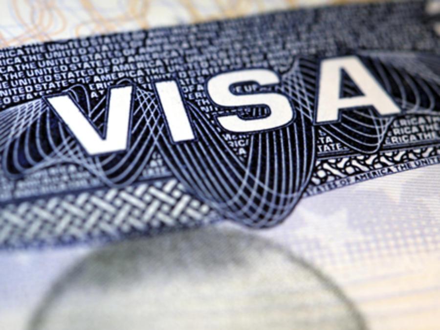 Imagen de archivo de un visado estadounidense.