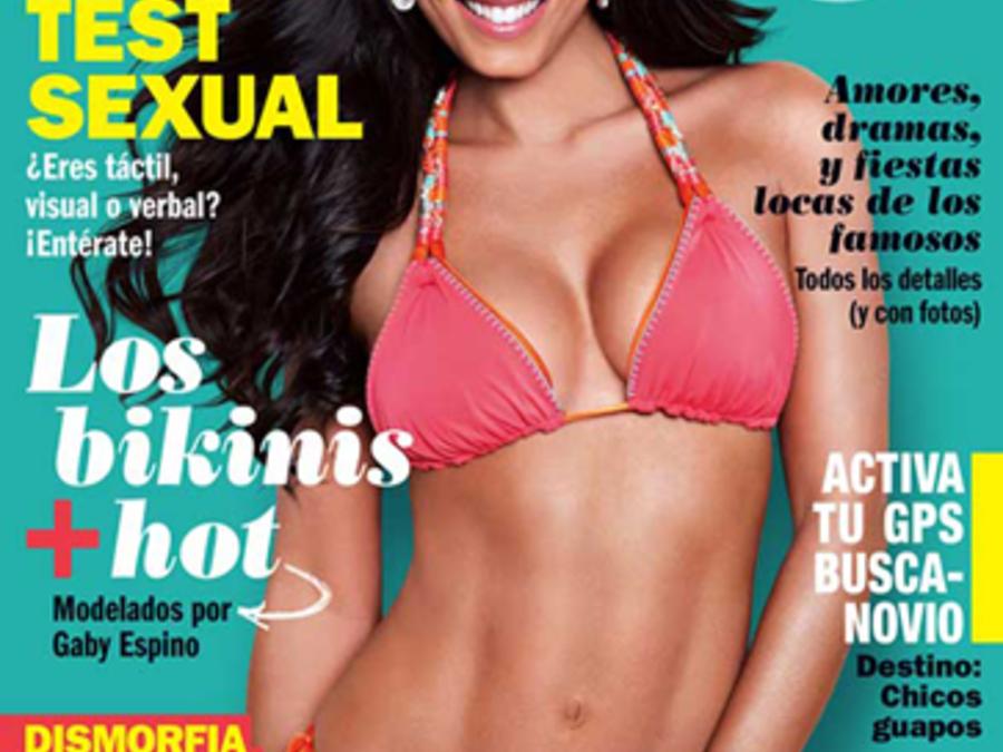 Gaby Espino en portada de revista Cosmopolitan