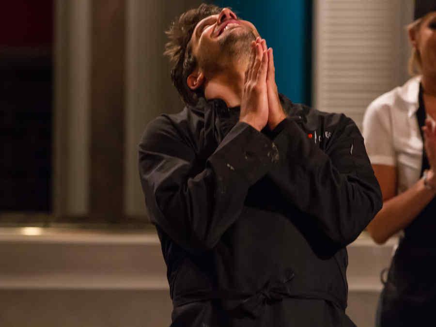 Momento en que David Chocarro gana Top Chef Estrellas