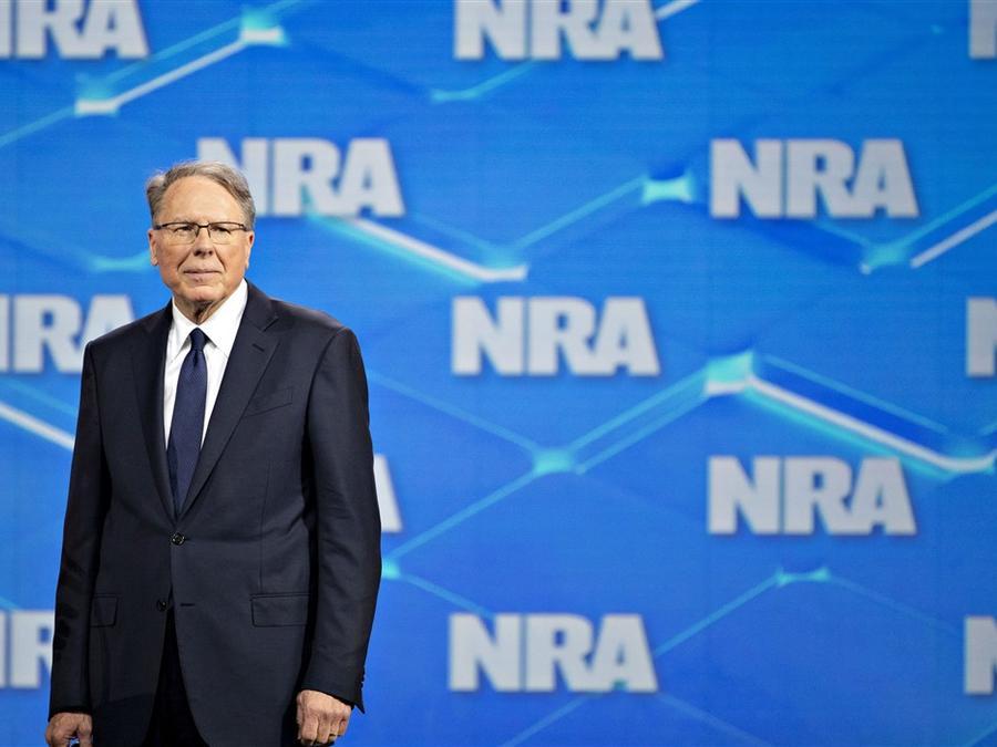 Wayne LaPierre durante la reunión anual de la NRA en Indianápolis, Indiana, el 26 de abril de 2019.