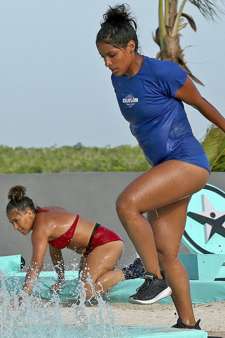 Jasmín Ibarra sale del agua en duelo contra Valerie Loureda