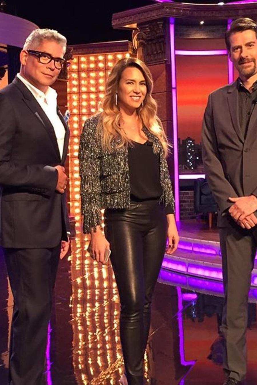 Boris Izaguirre, Erika de la Vega y Eduardo Videgaray en Ya Era Hora