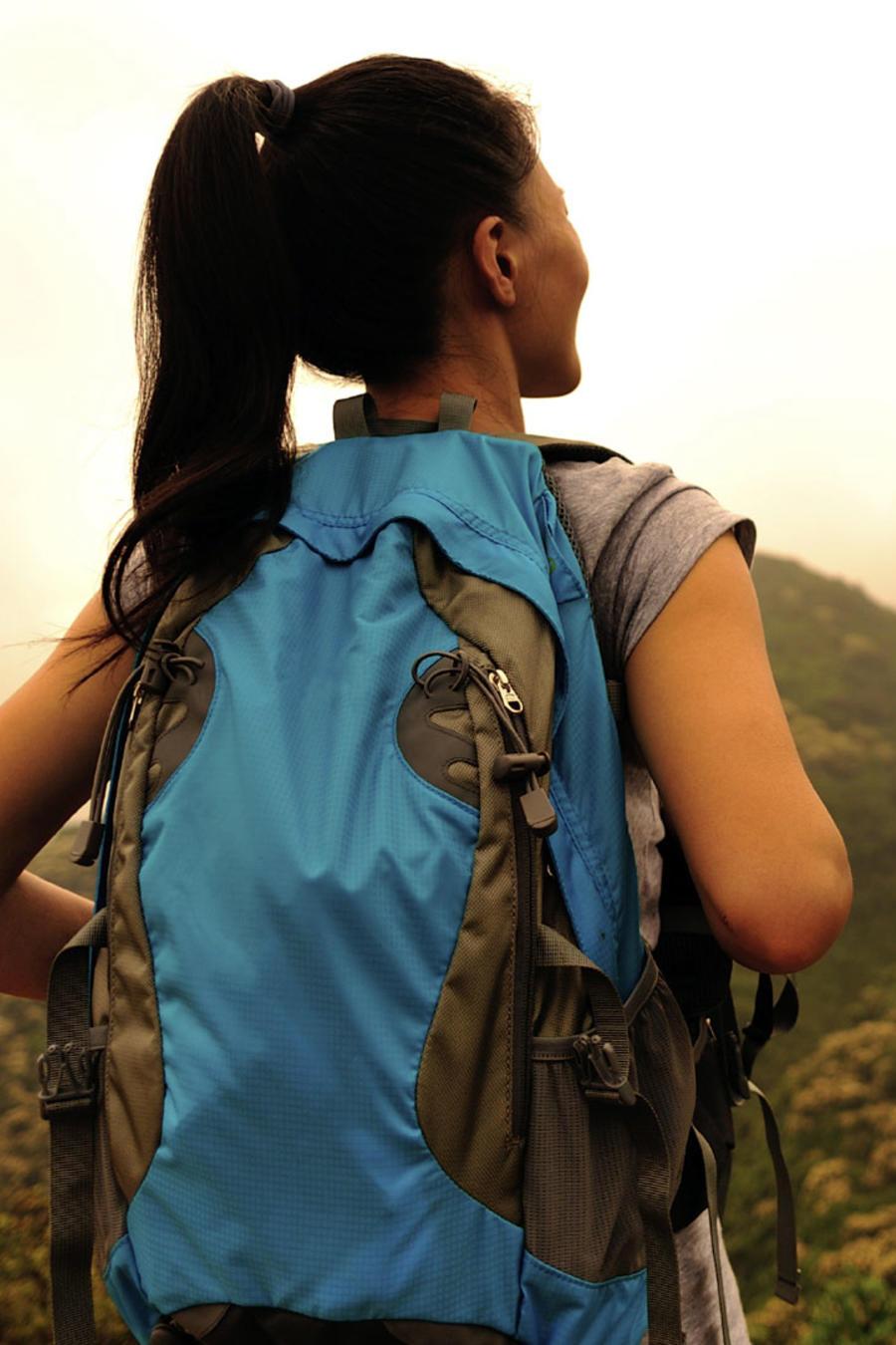 viajera de espalda