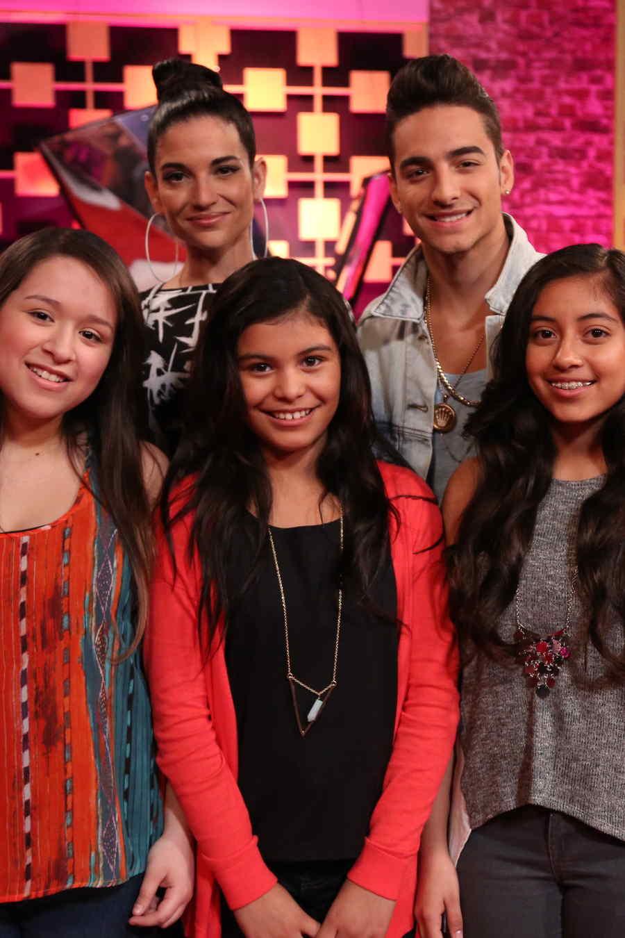 Lluvia, America y Yarialis es team Natalia en La Voz Kids