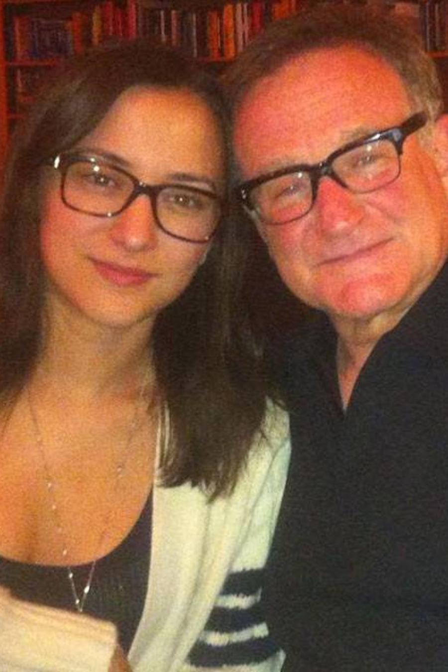Zelda Williams with her dad Robin Williams