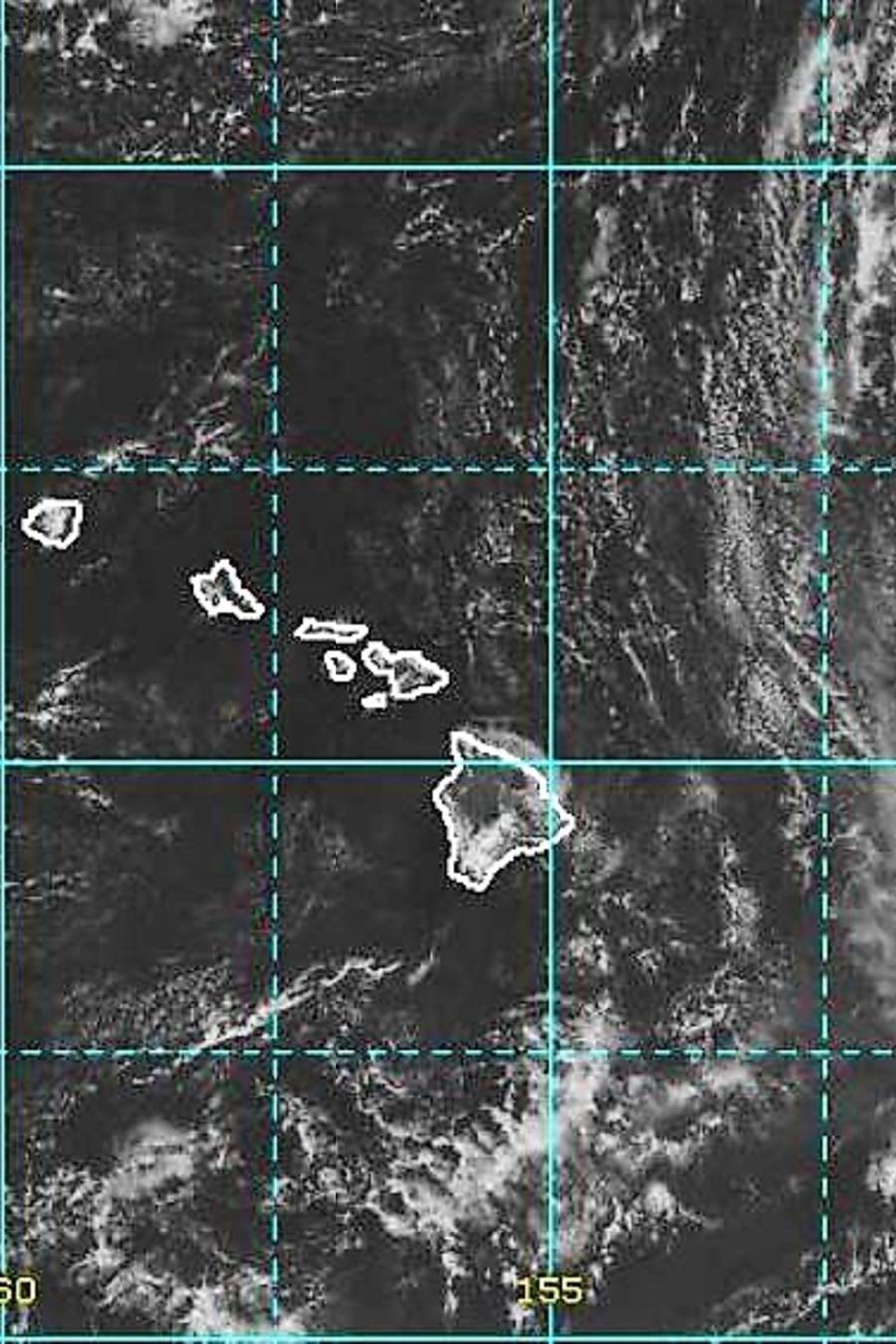 Una imagen de la posición de la tormenta tropical Olivia este lunes.
