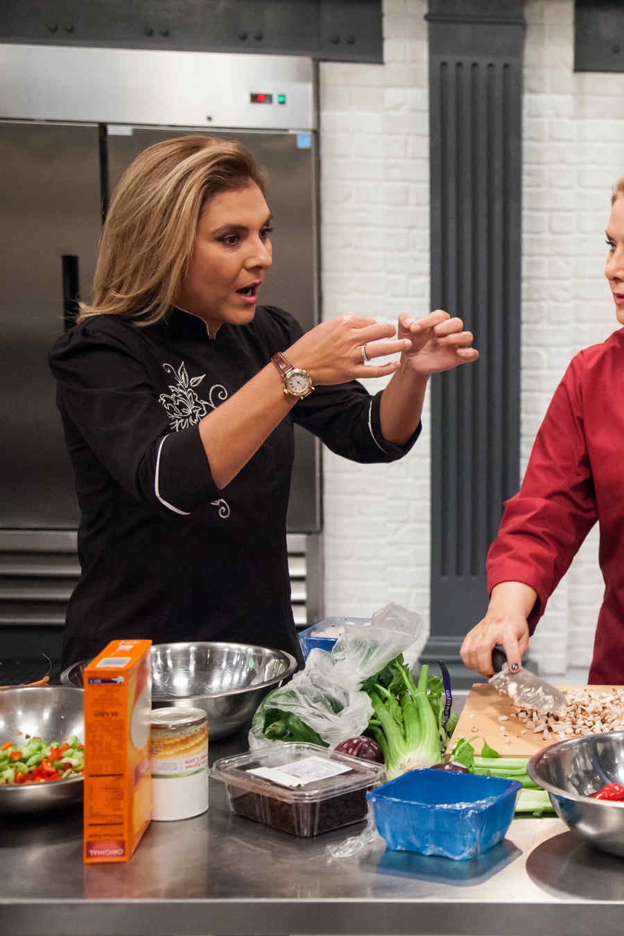 Lorena García, Judith Grace y Gabriela Vergara en Top Chef Estrellas