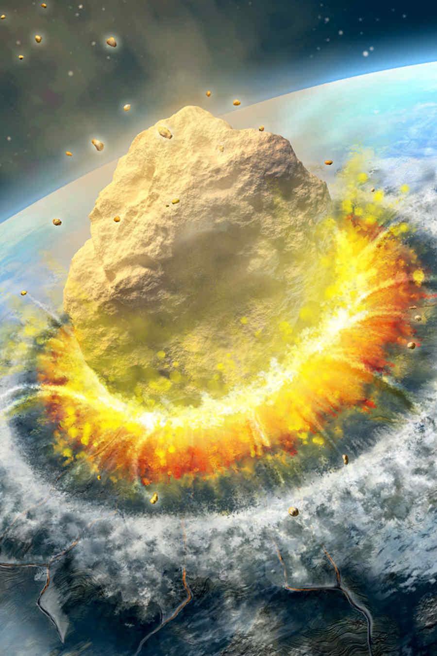 Asteroide se estrella con la tierra