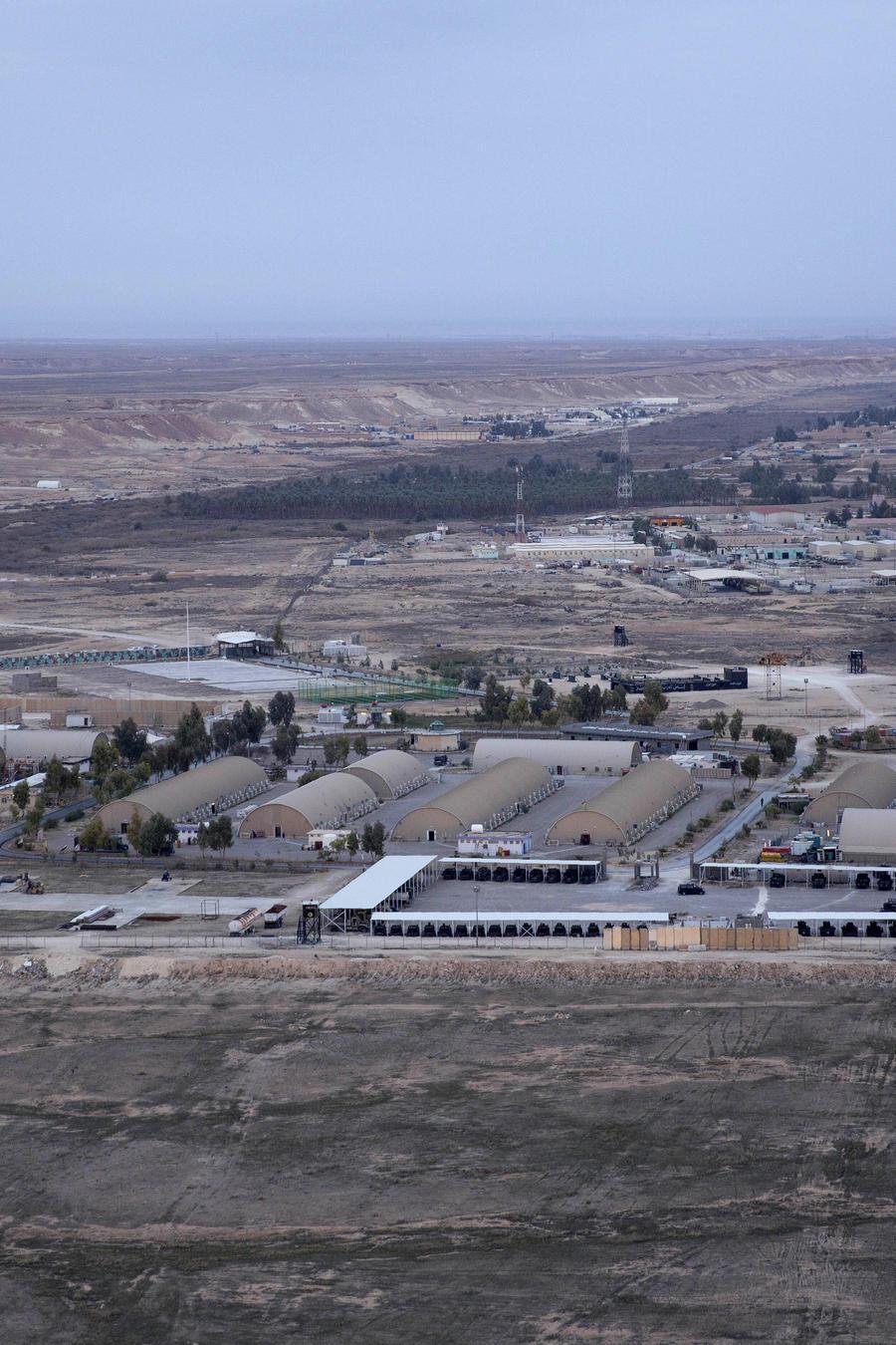 Base aérea de Ain al-Asad en el desierto occidental de Anbar, Iraq.
