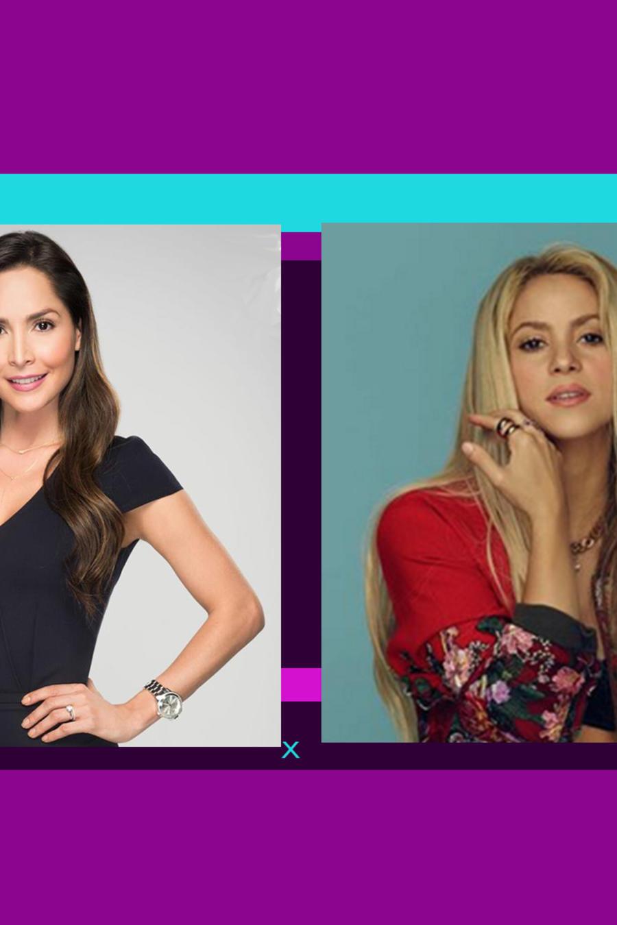 Estrellas colombianas Carmen Villalobos y Shakira