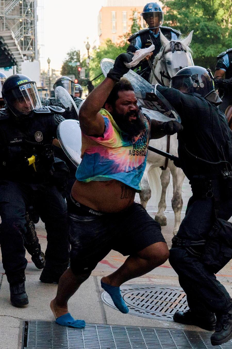 Disturbios en el parque Lafayette de Washington