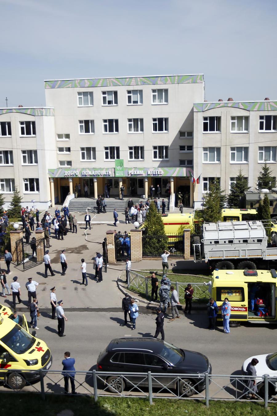 Balacera en una escuela en Kazán, Rusia