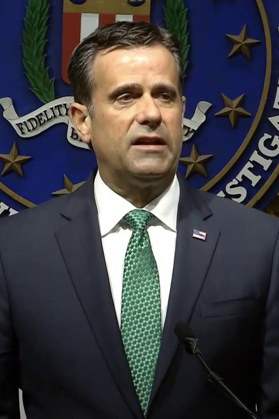 John Ratcliffe, director de inteligencia de Estados Unidos, durante la conferencia de prensa de este miércoles 21 de octubre.