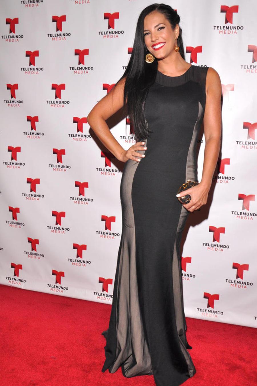 Gaby Espino en la alfombra roja para el Upfront de Telemundo en el 2013