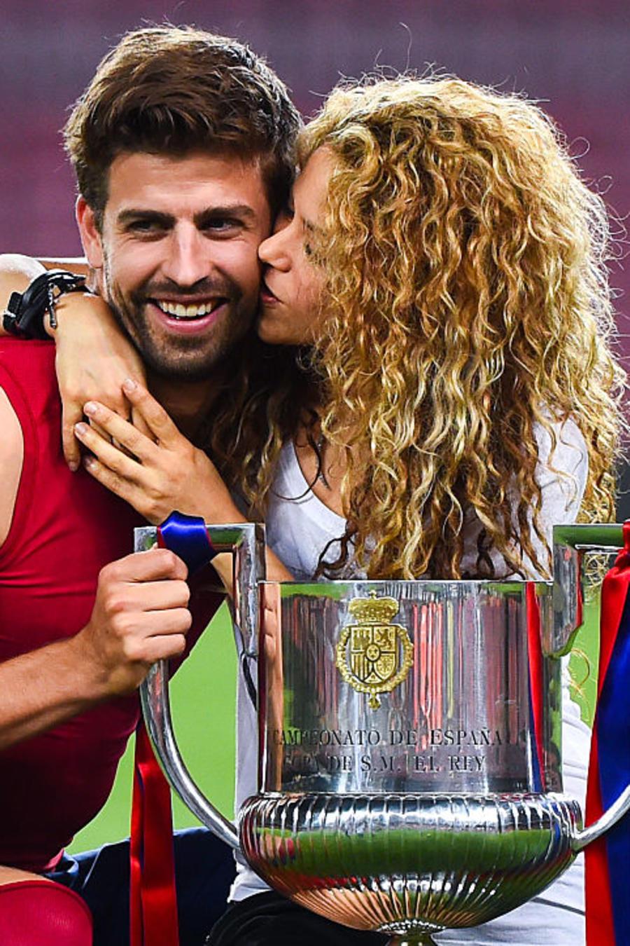 Shakira y Pique en la Copa del Rey Final