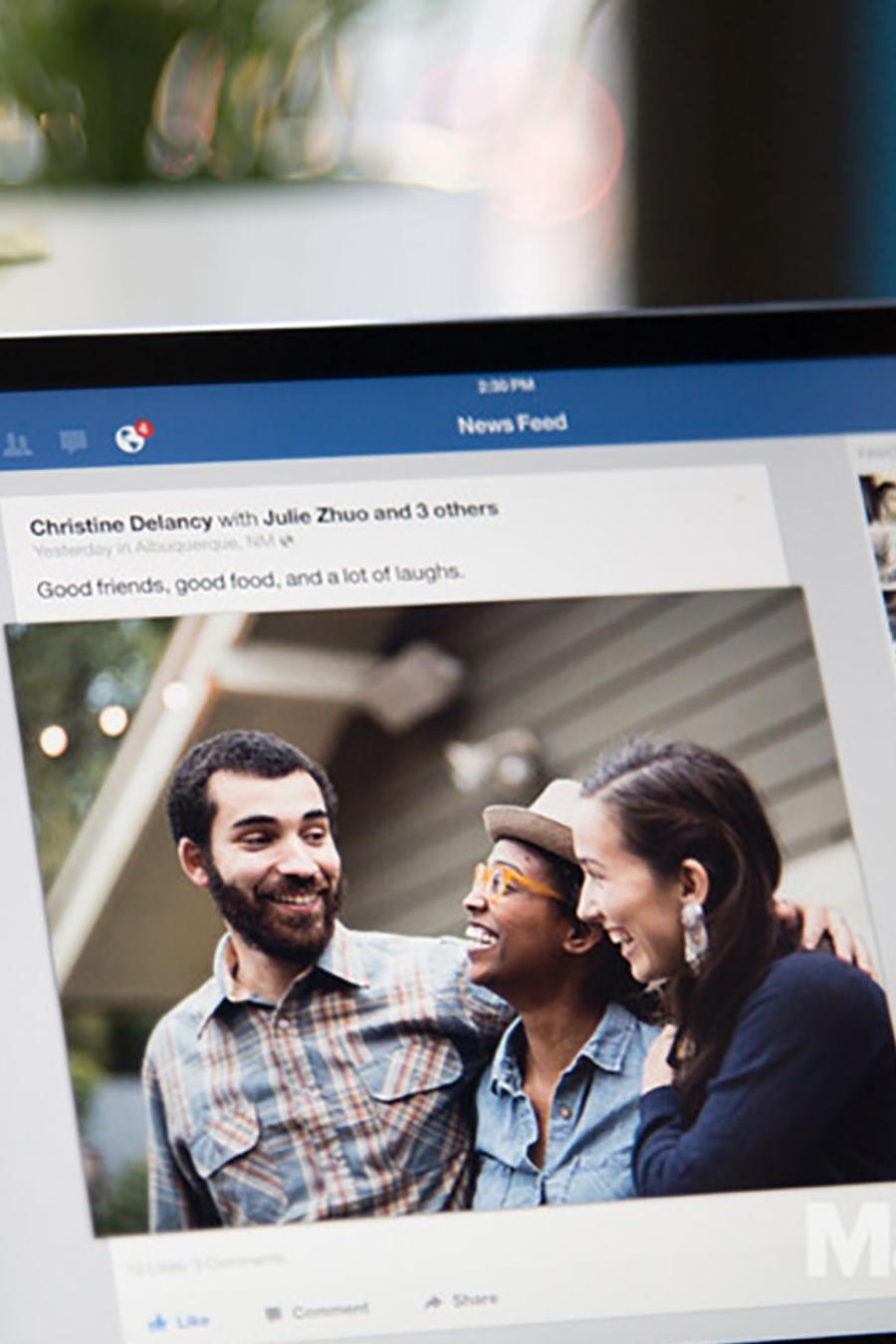 Facebook en iPad