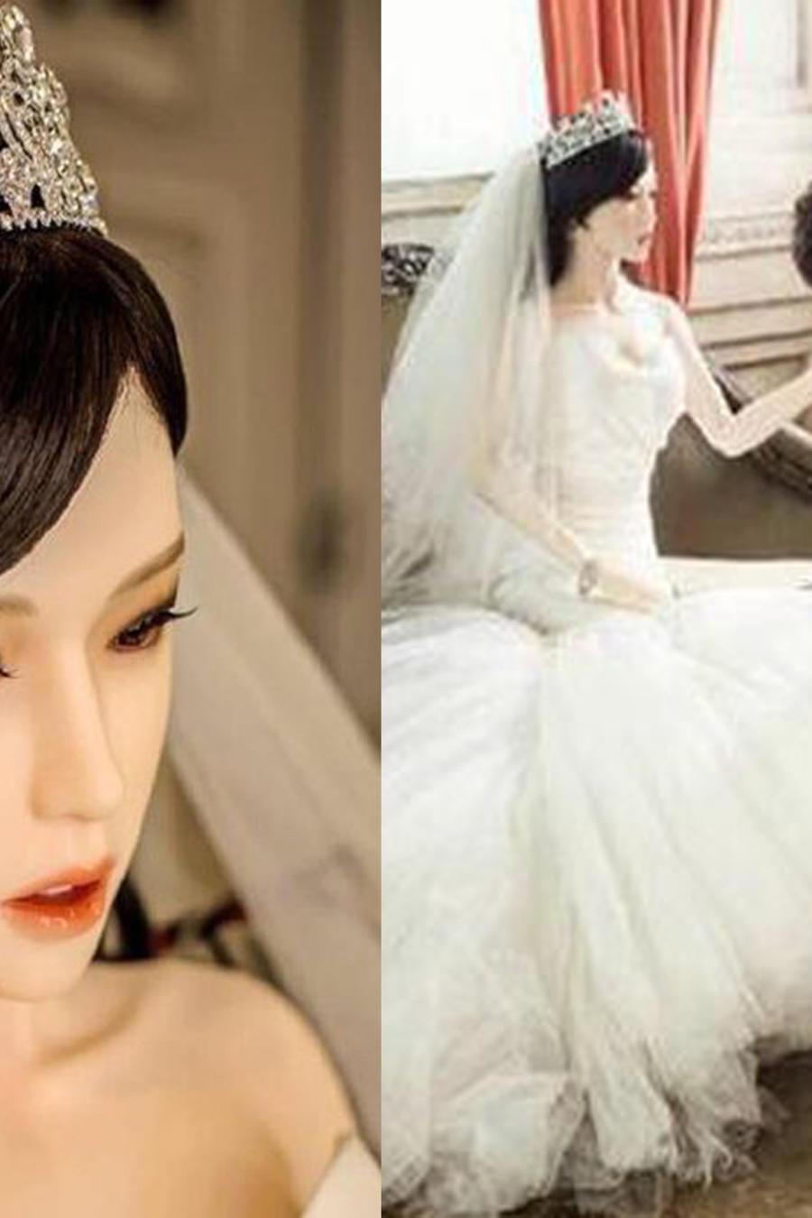 Hombre con cáncer terminal se casa con muñeca sexual