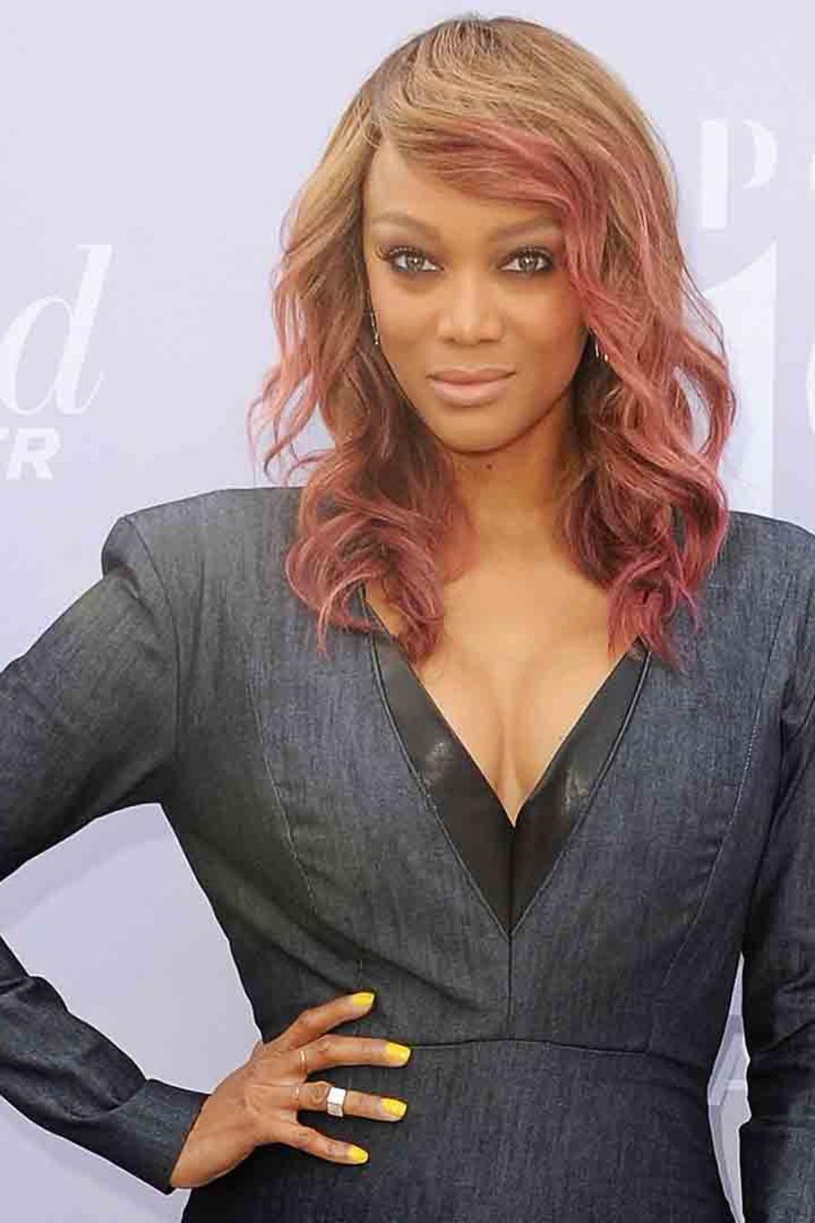 Tyra Banks en The Hollywood Reporter's Annual Women in Entertainment en Los Ángeles