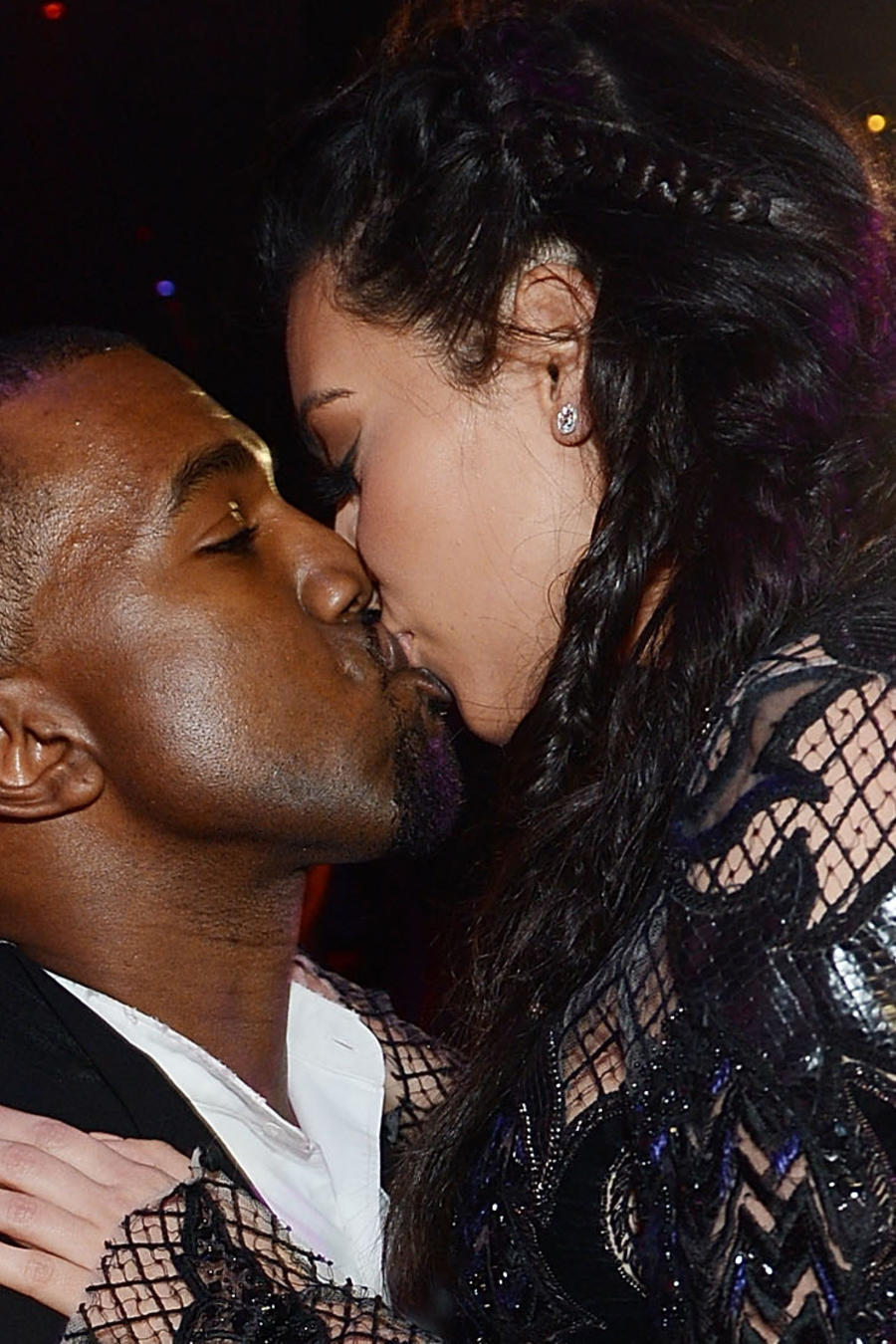 Kim Kardashian y Kanye West en 2014