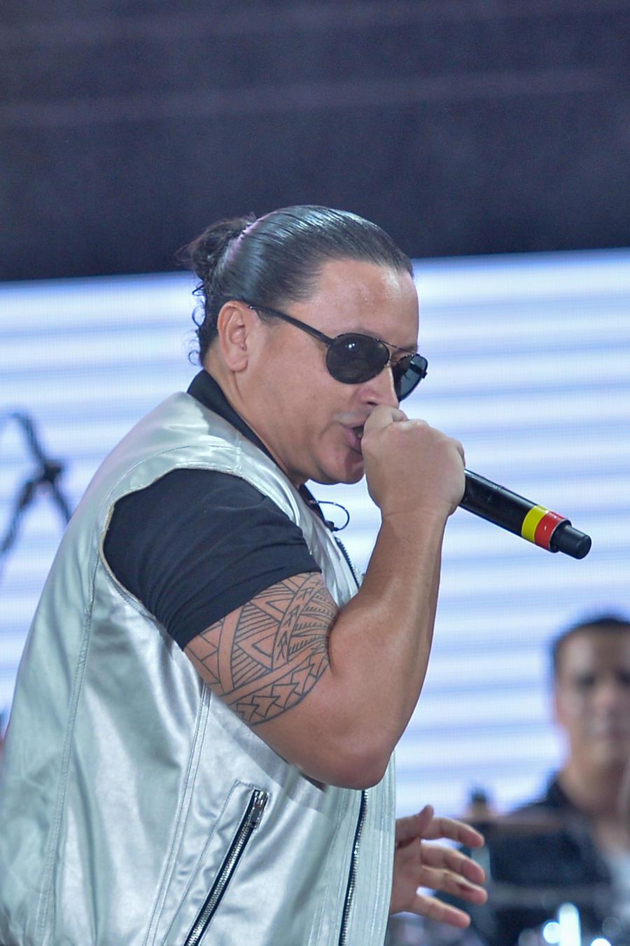 Elvis Crespo durante el Grand Slam Latino 2015
