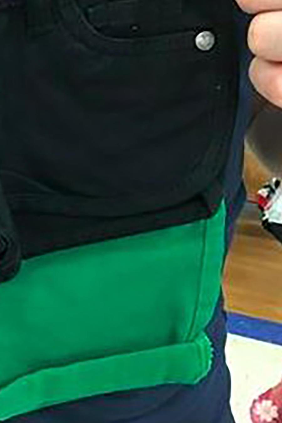 Shorts verdes de niño y niña, talla uno
